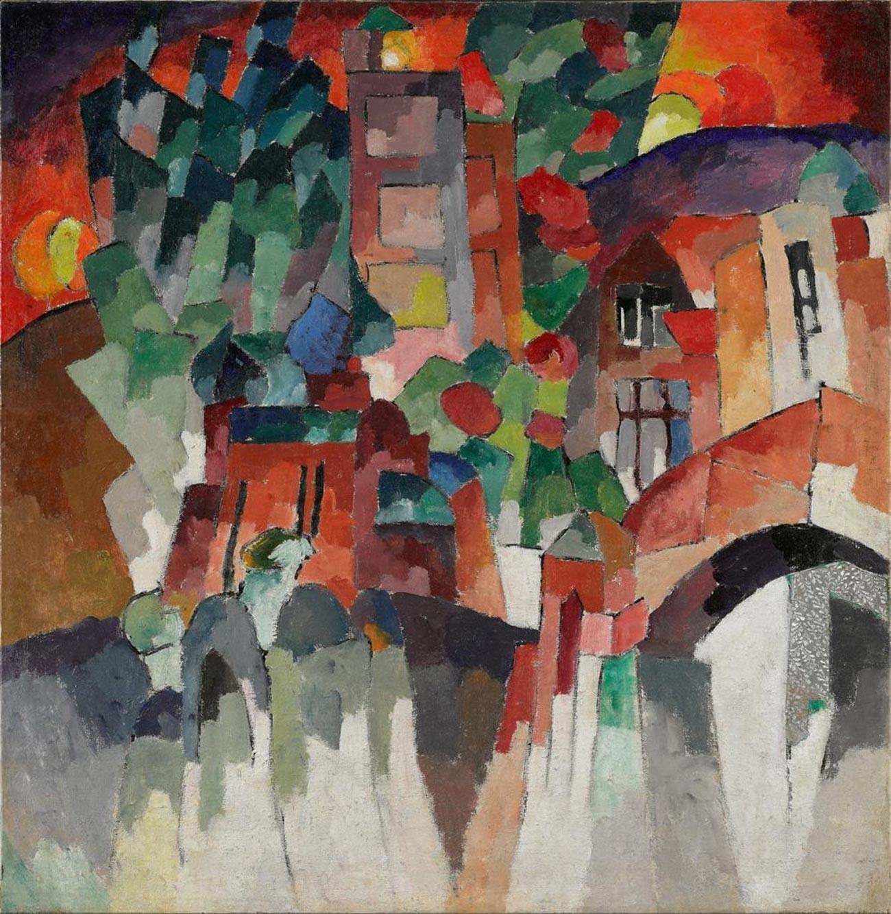 キスロヴォーツクの扉のある風景(門の景色)、1913年