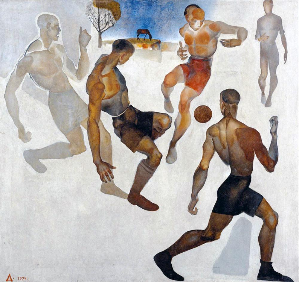 Aleksandr Dejneka. Calcio, 1924