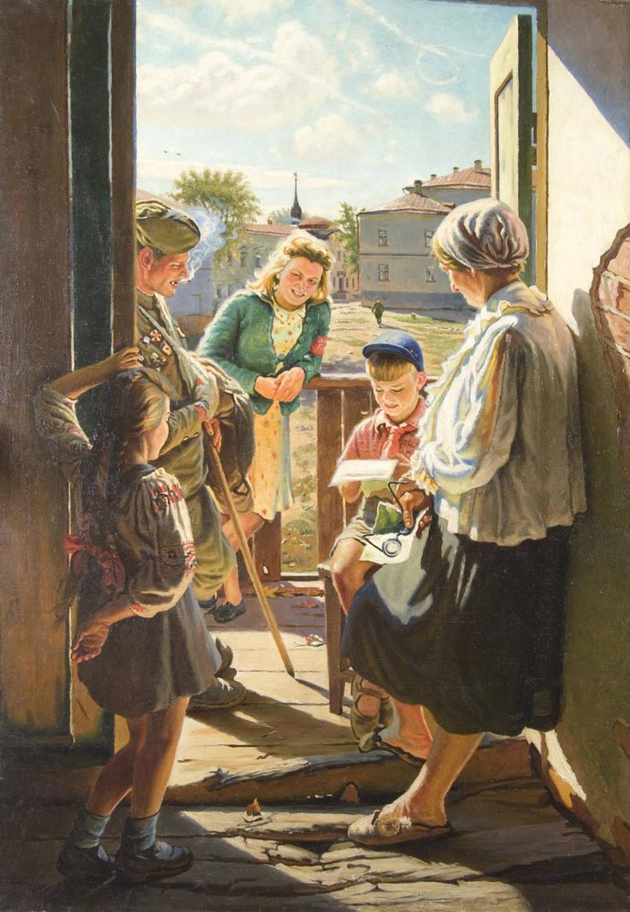 Aleksandr Laktionov. Lettera dal fronte, 1947