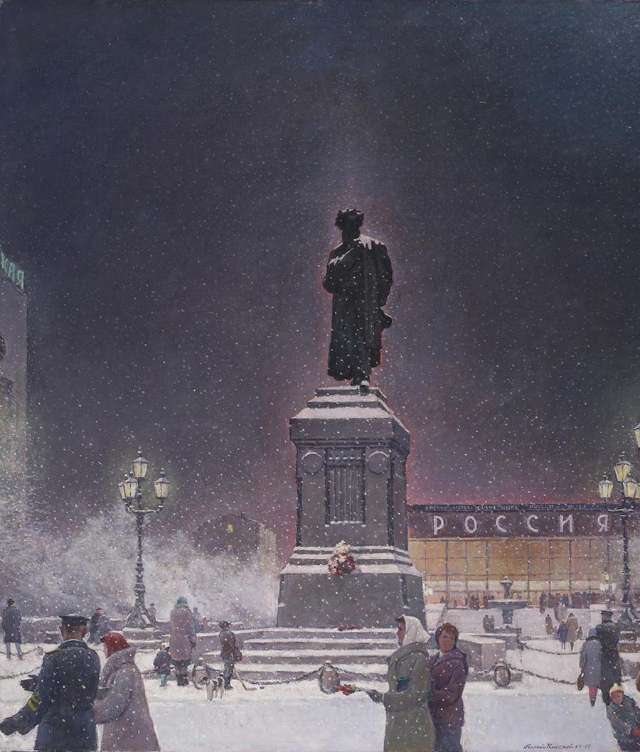 Georgij Nisskij. Piazza Pushkin, 1966-1967