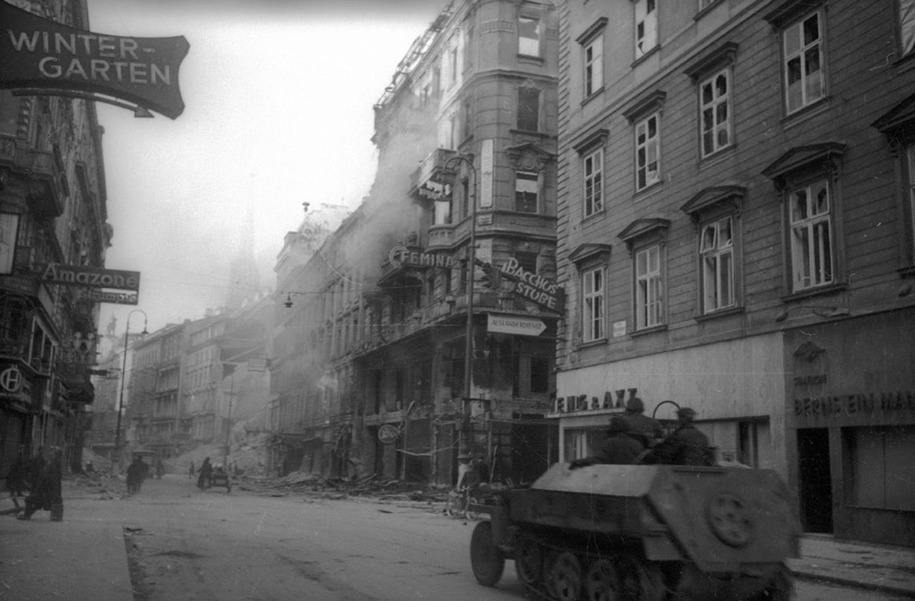 Rues de Vienne en ruines