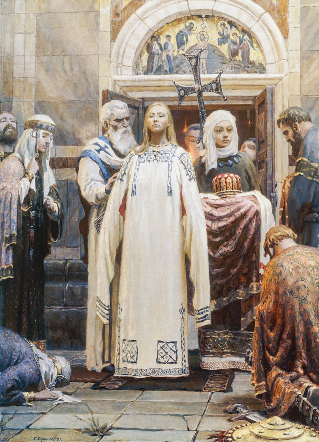 """""""Pembaptisan Olga"""" oleh Sergei Kirillov"""