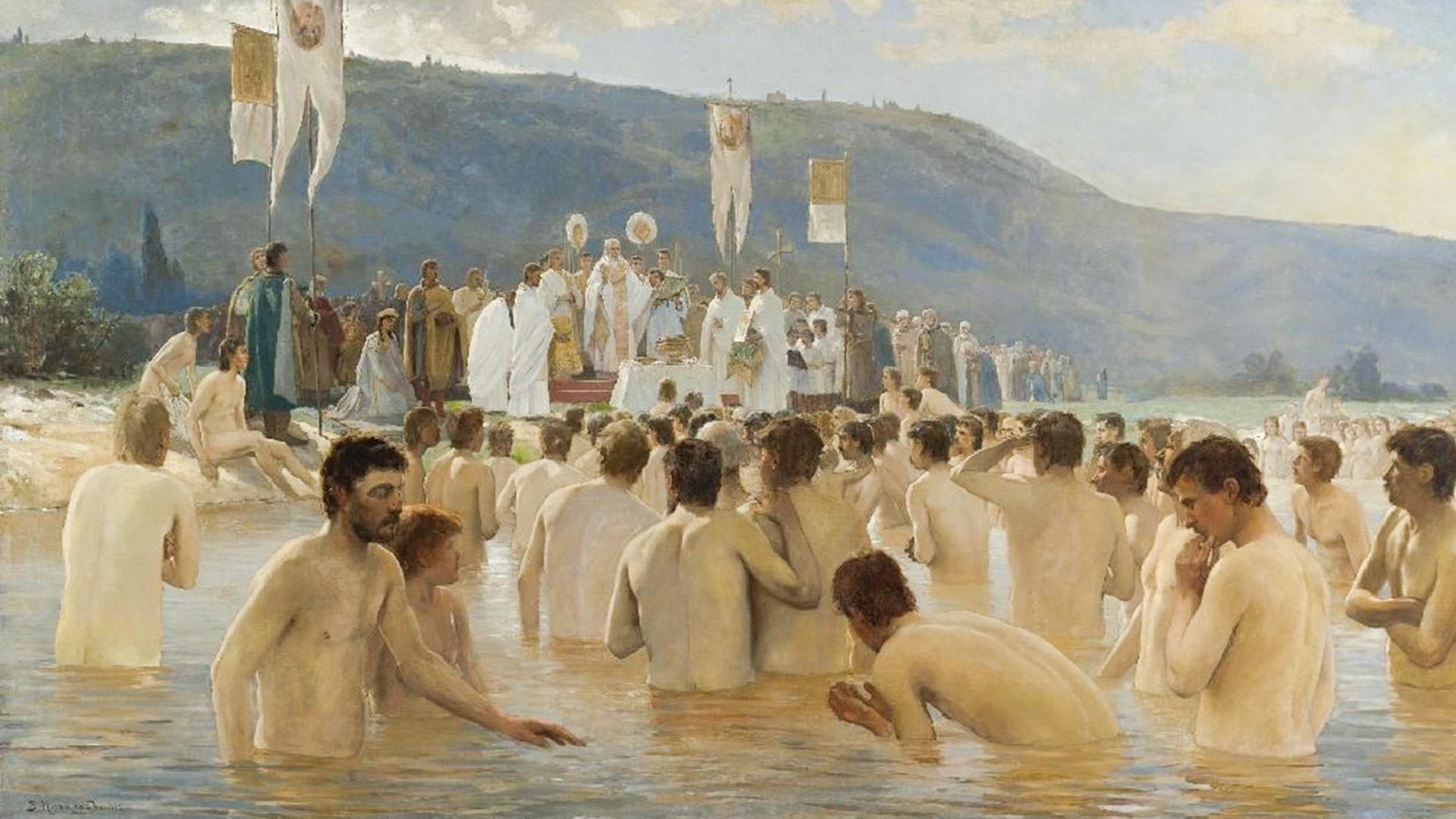 """""""Pembaptisan orang Rusia"""" oleh Vasiliy Navozov"""