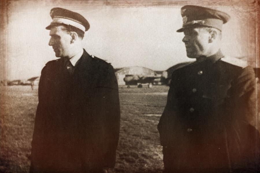 Albert Mirlesse avec le militaire soviétique Stepan Levandovitch