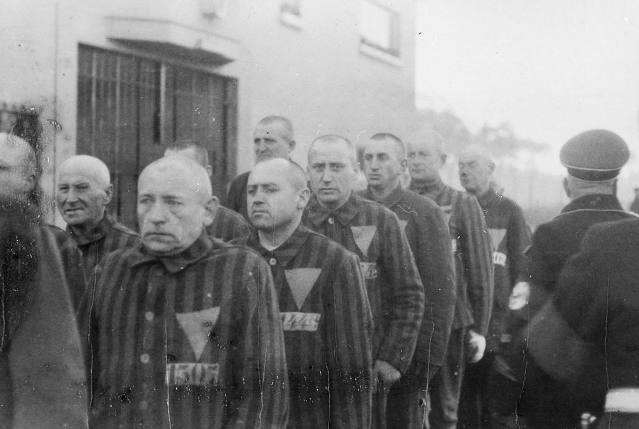 Prisioneros del campo de concentración de Sachsenhausen.