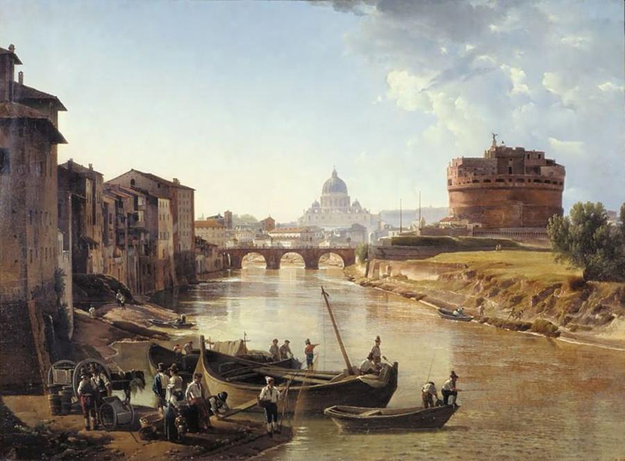 新ローマ、サンタンジェロ城、1823-25年