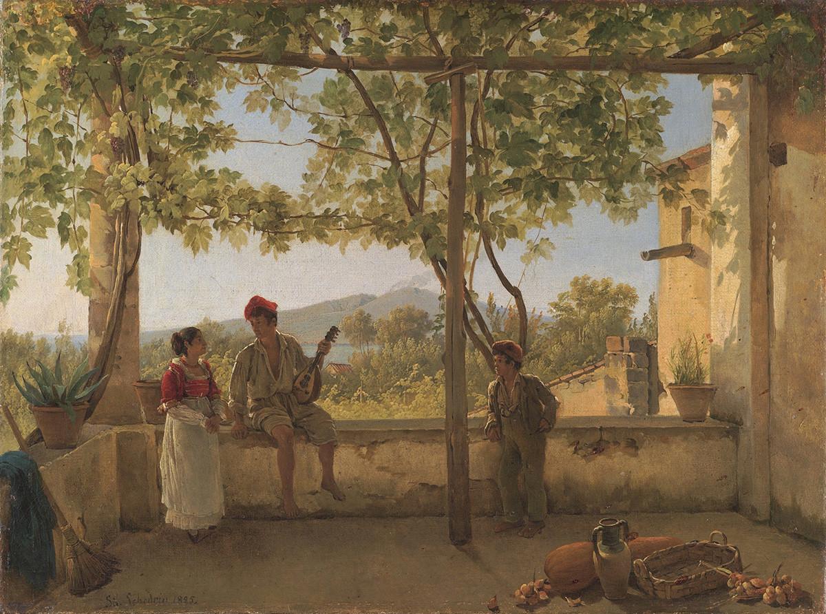 ソレントのテラス、1825年