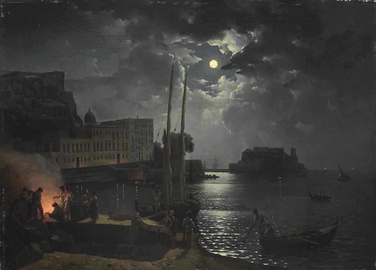 ナポリの月の夜、1828年