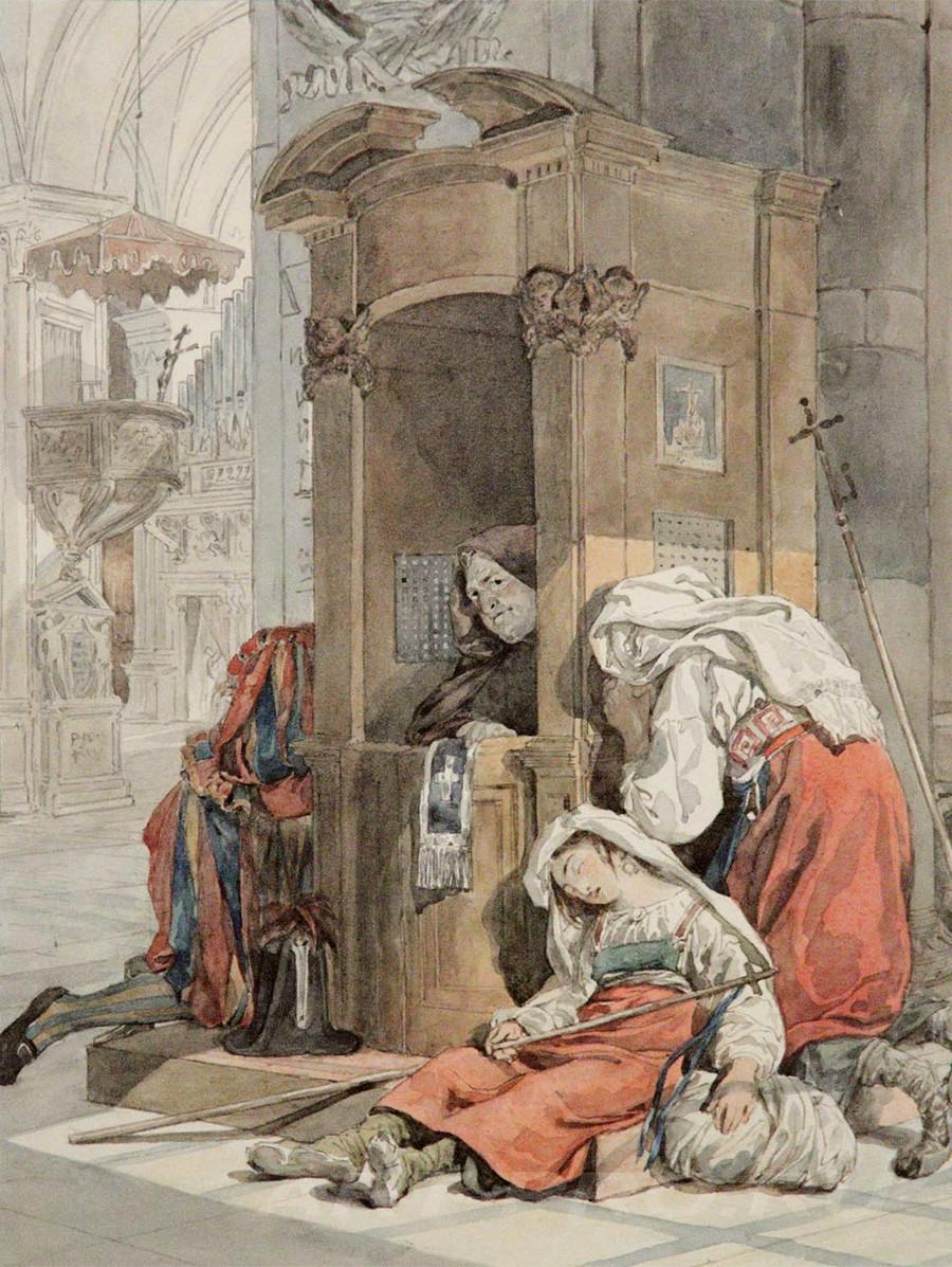 イタリア女の告解、1830年