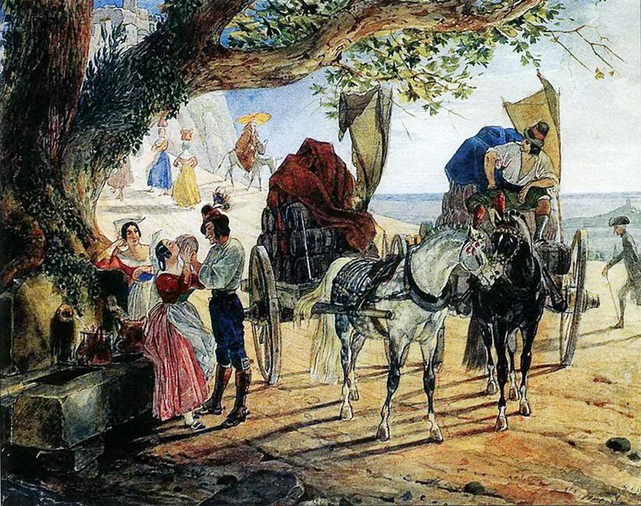 アルバーノを歩く、1833年