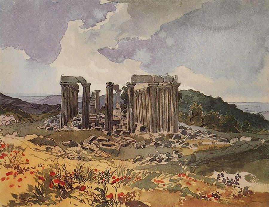 フィガリアのエピクロス・アポロン神殿、1835年