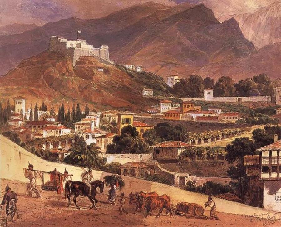 マデイラ諸島の風景、1850年