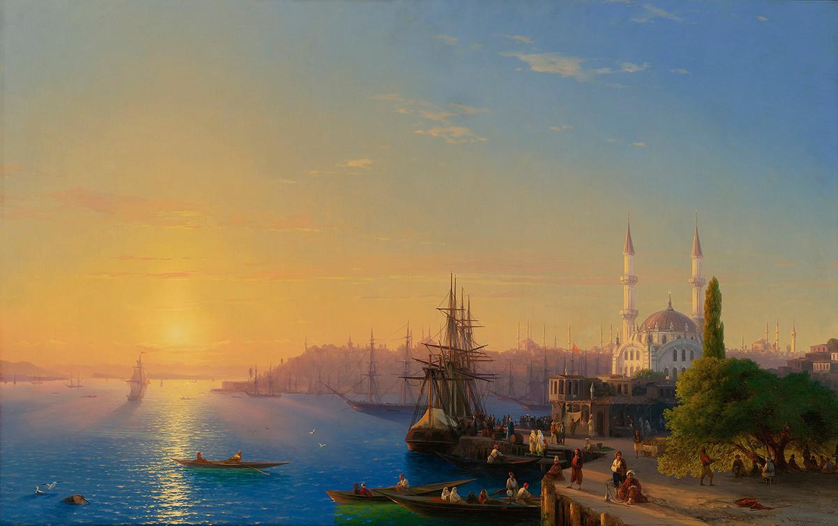 コンスタンチノープルとボスポラスの風景、1856年