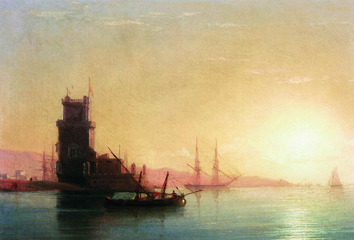 リスボン、日の出、1860年代