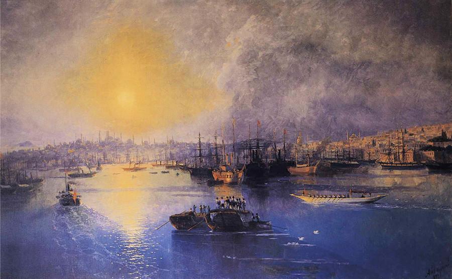 コンスタンチノープル、日没、1899年