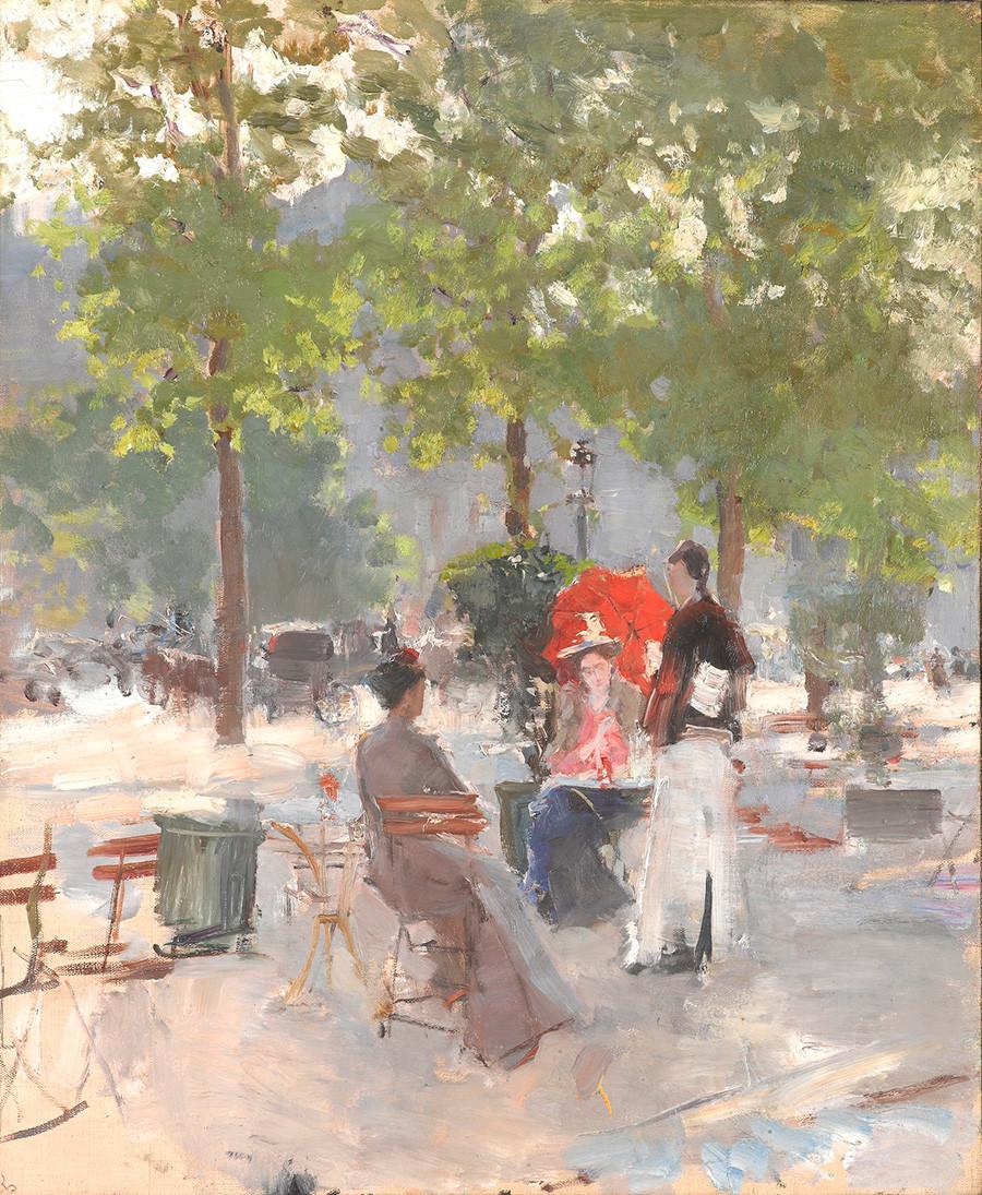 パリのカフェ、1890年