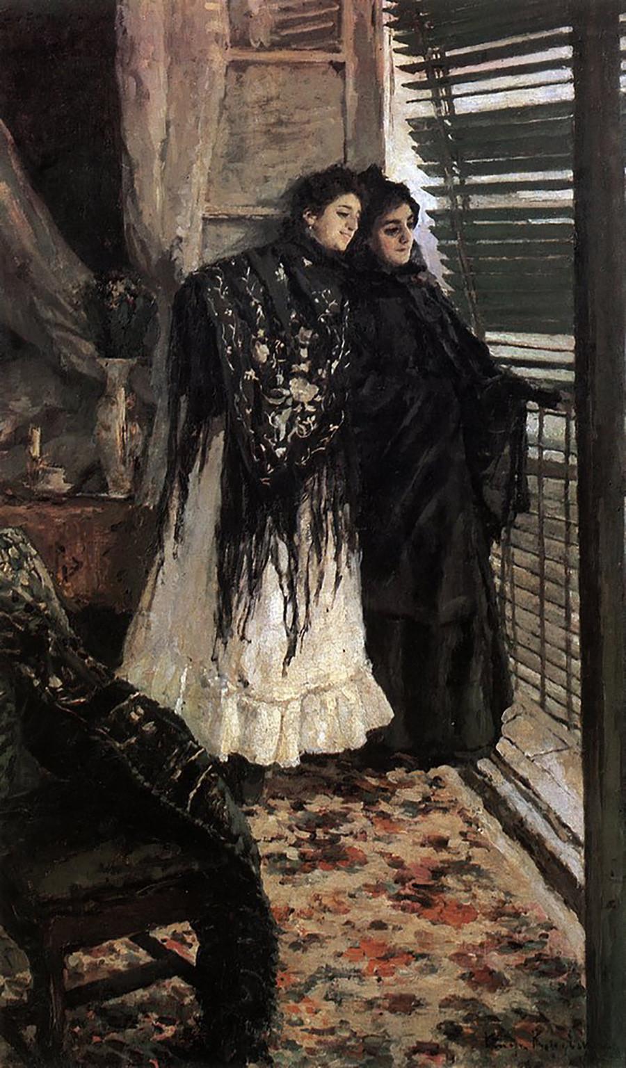 バルコニーにて。スペイン女性、レオノラとアンパラ、1888-1889年