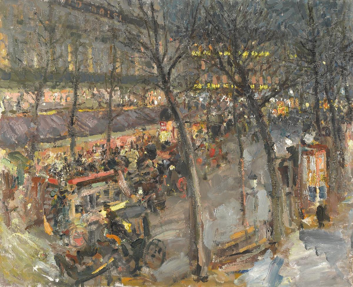 パリ、カフェ・ド・ラ・ペ、1906年