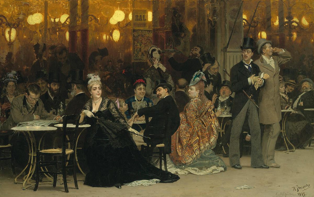 パリのカフェ、1875年