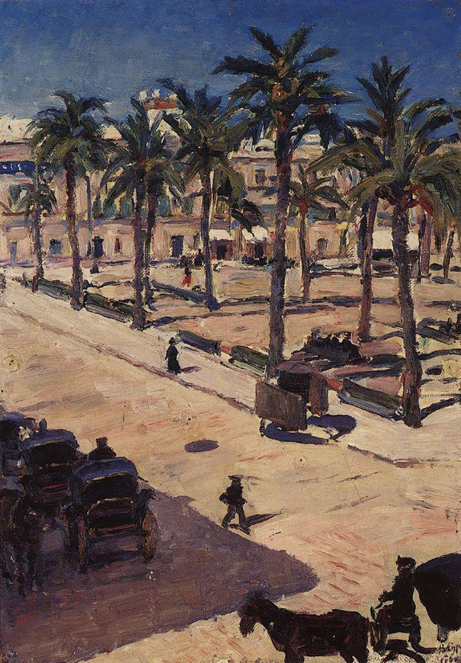 セヴィリアのサンフェルナンド広場、1910年
