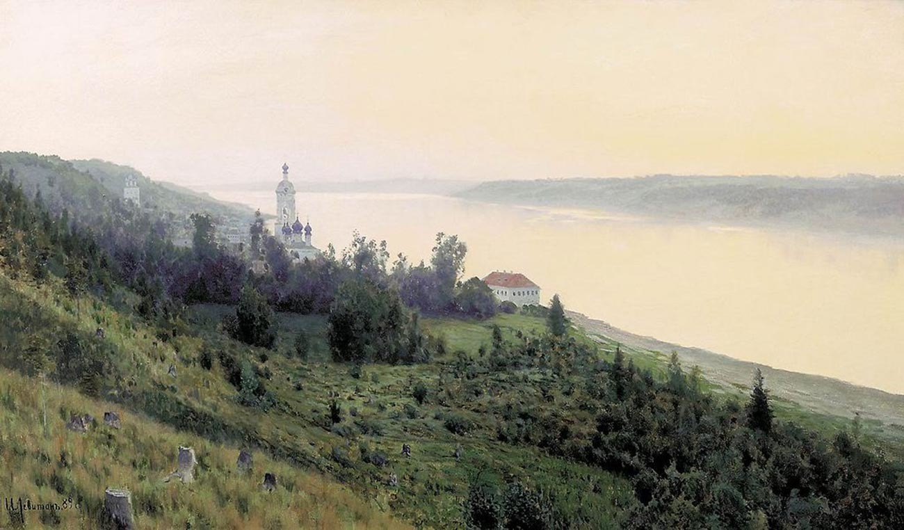 Isaac Levitan. Le Soir. Plios doré. 1889