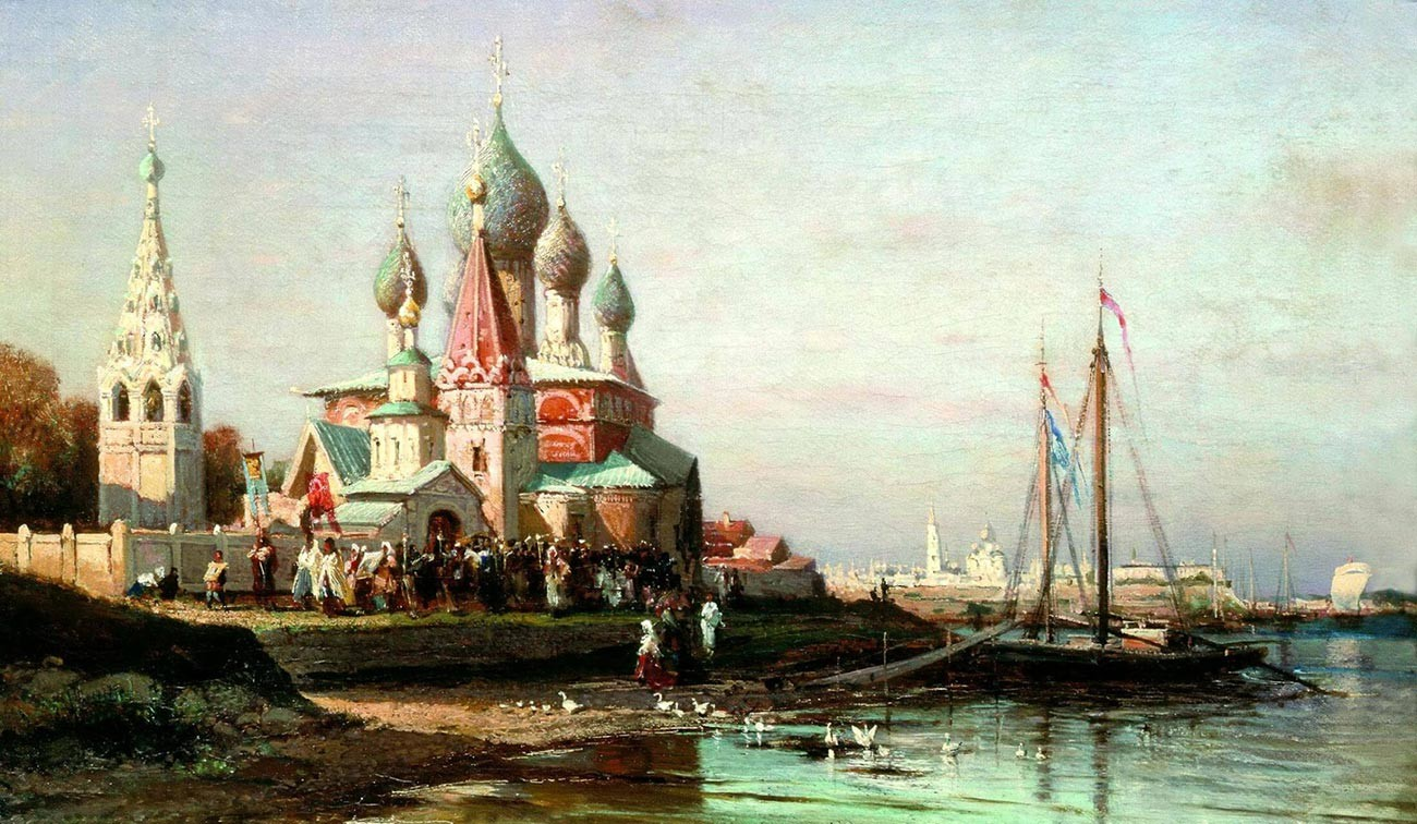 Alexeï Bogolioubov. Procession à Iaroslavl. 1863