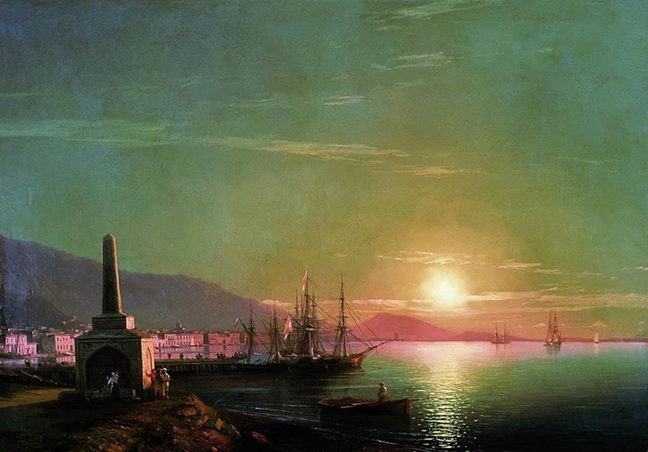Ivan Aïvazovski. Lever de soleil à Théodosie. 1855