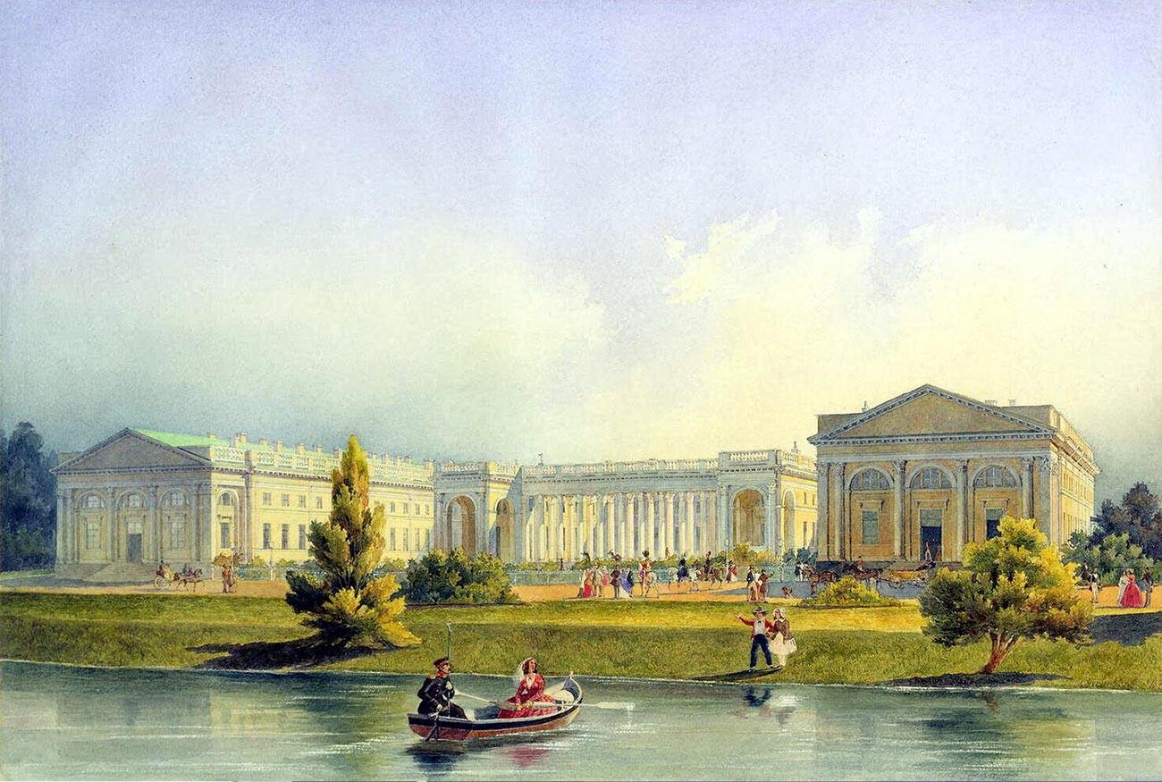 Alexeï Gornostaïev. Palais Alexandre à Tsarskoïé Selo. 1847