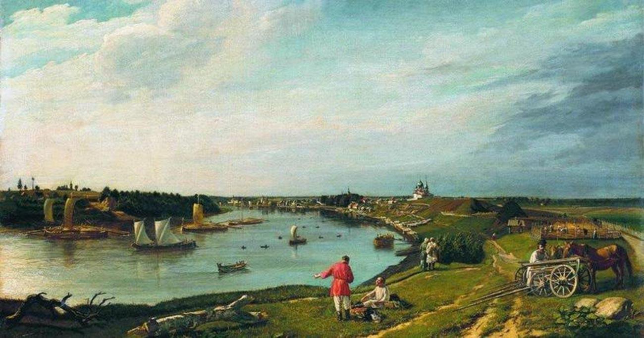 Piotr Zabolotski. Vue de Staraïa Ladoga. 1833