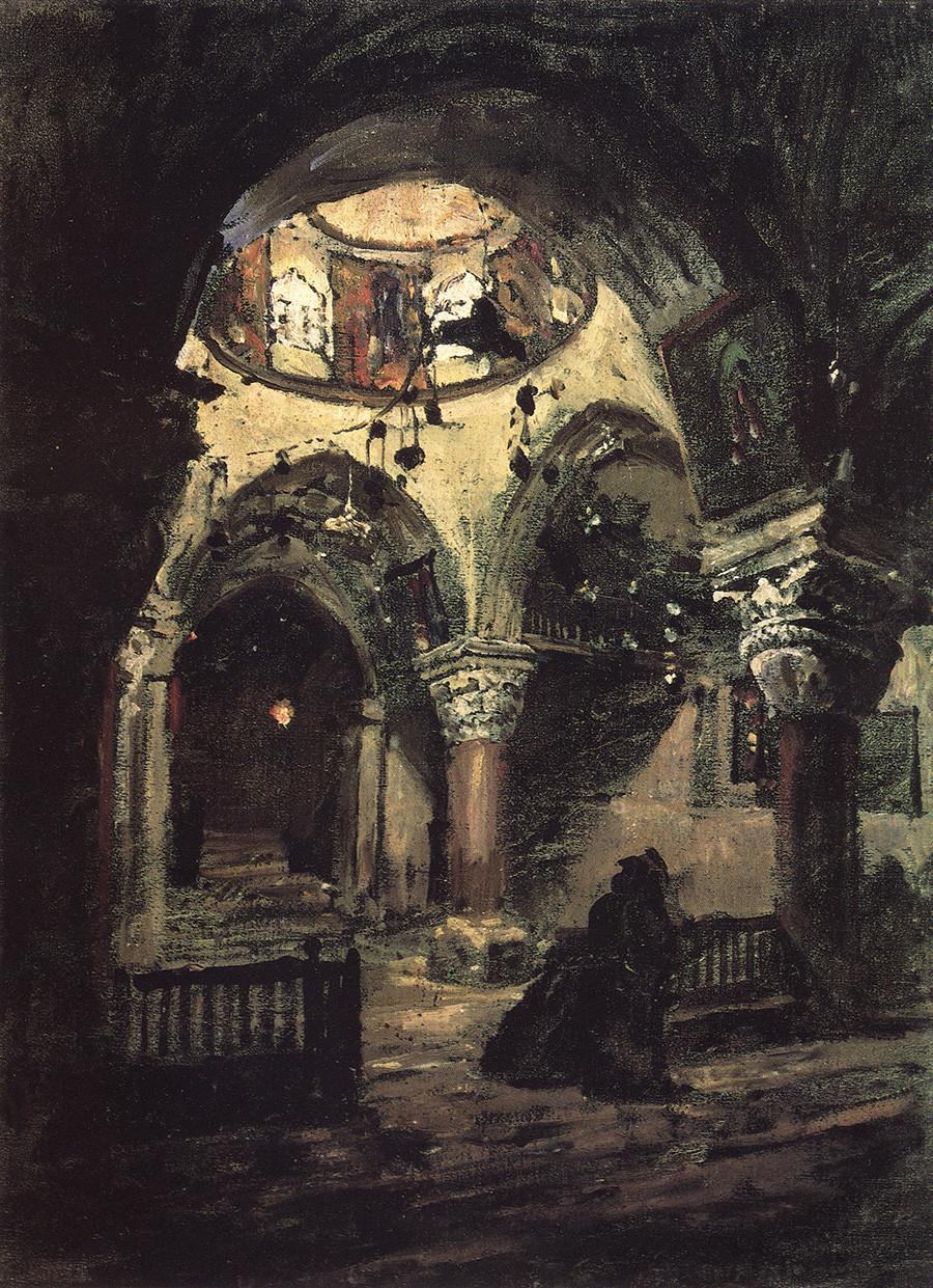 聖エレーナ教会、聖墳墓教会の祭壇、1882年
