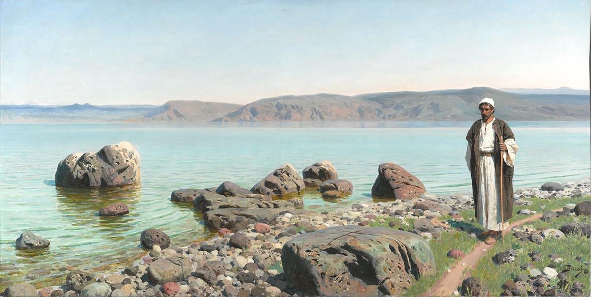 ティヴェリアツコエ湖(ゲニサレツコエ湖)にて、1888年