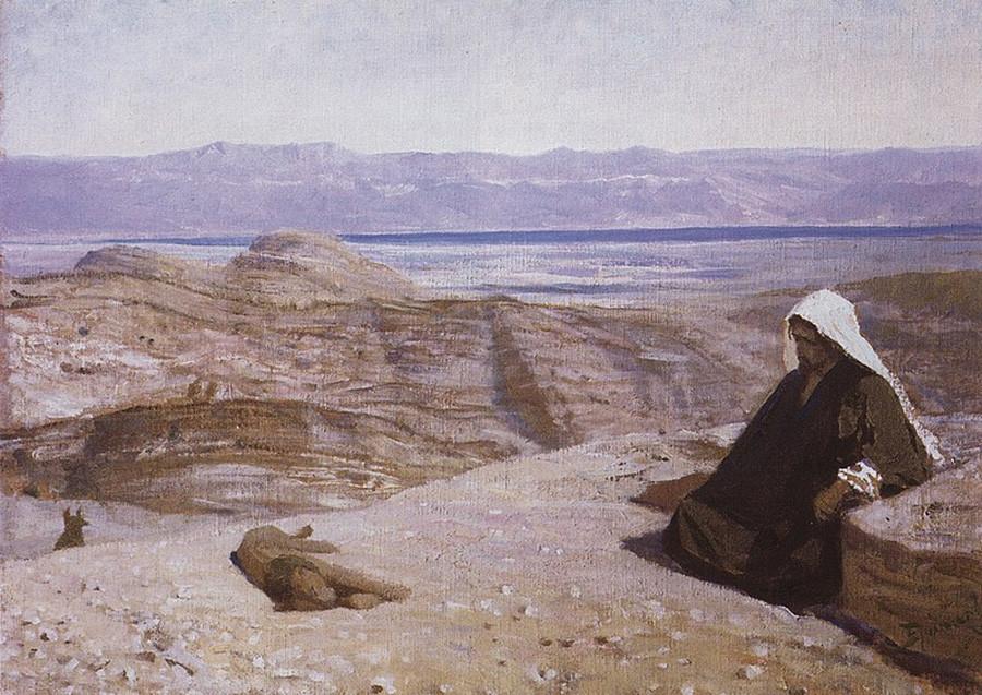 砂漠にて、1909年、シリーズ「ハリストスの人生」より