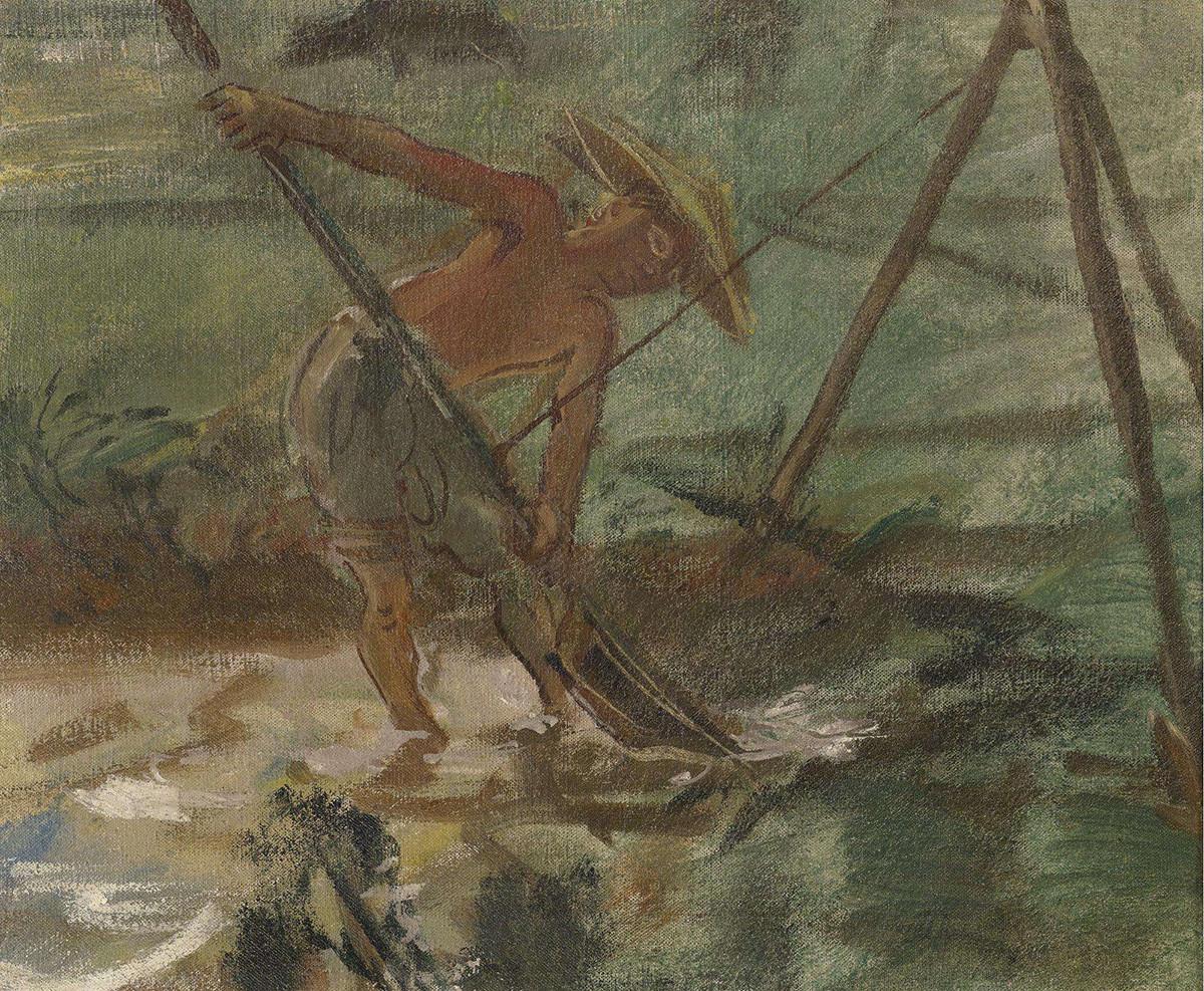 アジアの漁師