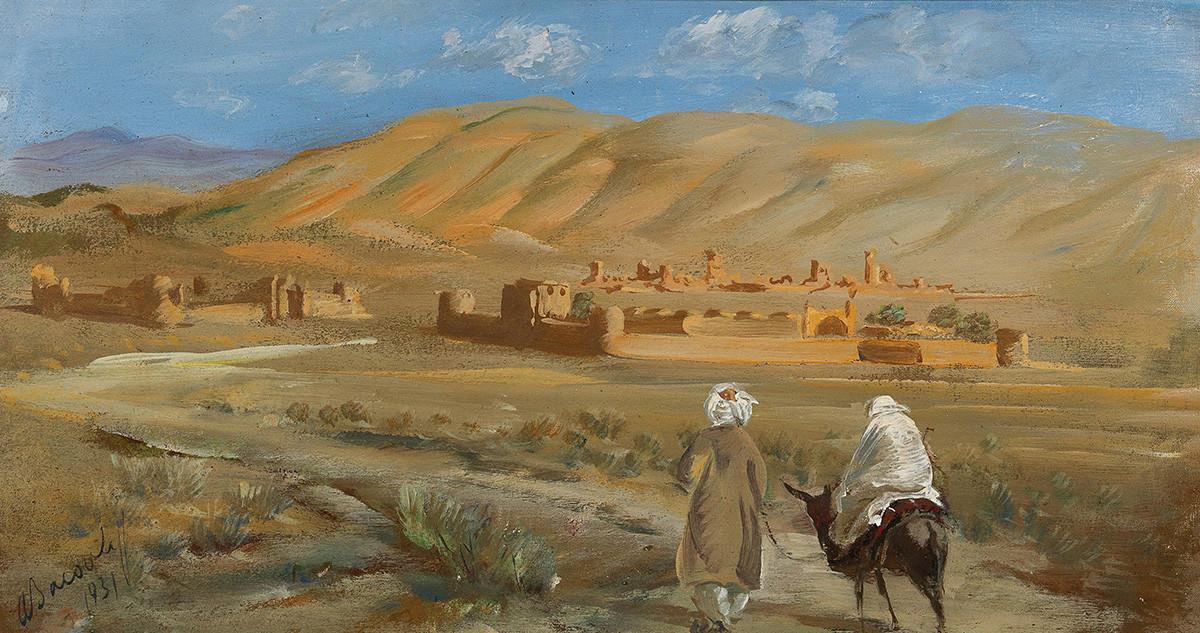 アフガニスタンの砂漠にて、1931年