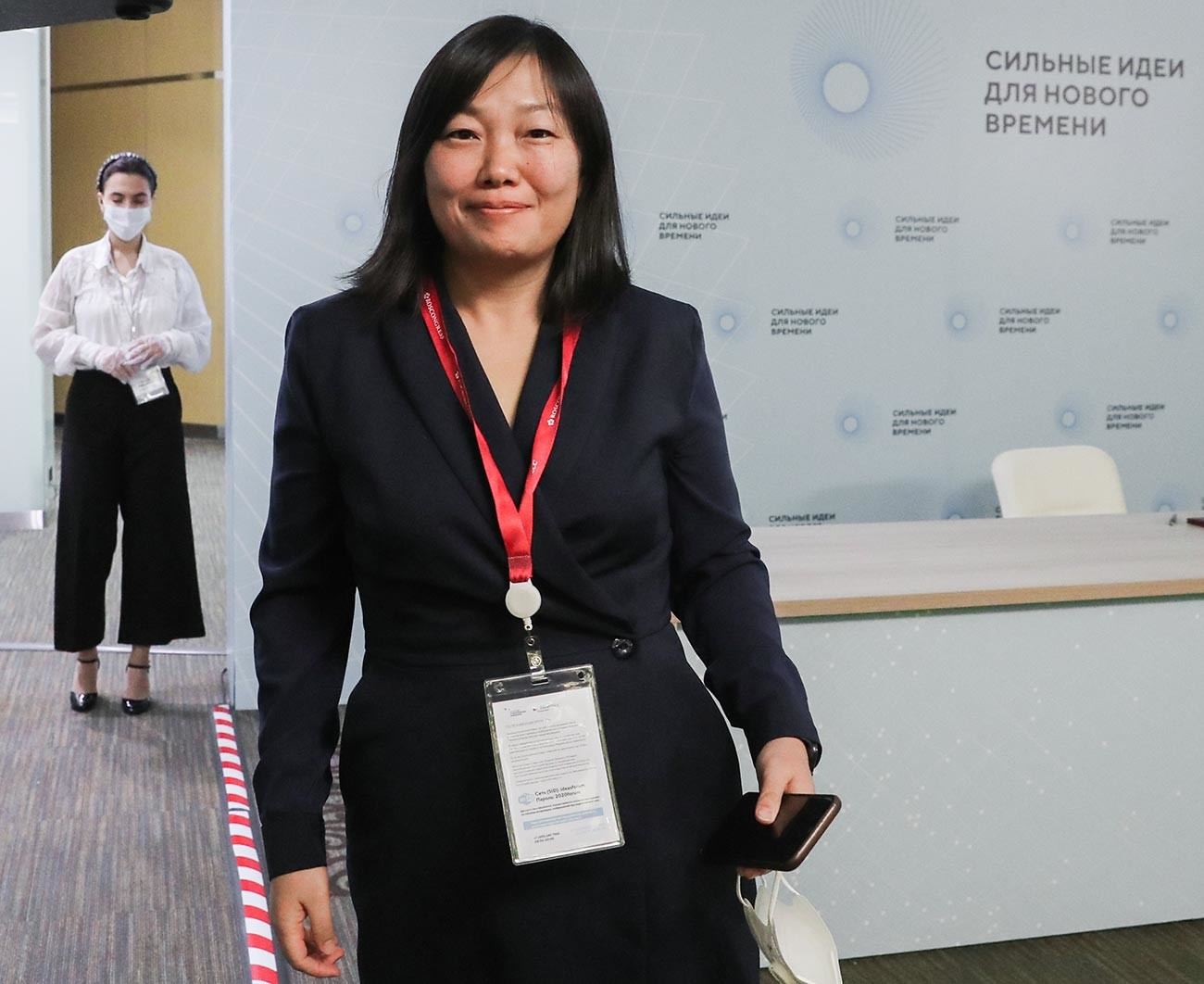 Osnivačica i izvršna direktorica online trgovine Wildberries Tatjana Bakaljčuk nakon svečanosti potpisivanja sporazuma o suradnji između Wildberriesa i AO