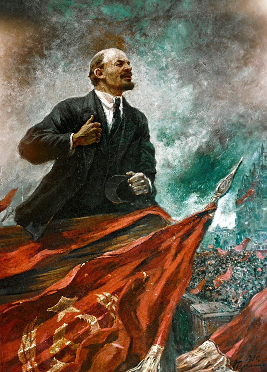 Alexander Gerassimow. Lenin auf der Tribüne, 1930.