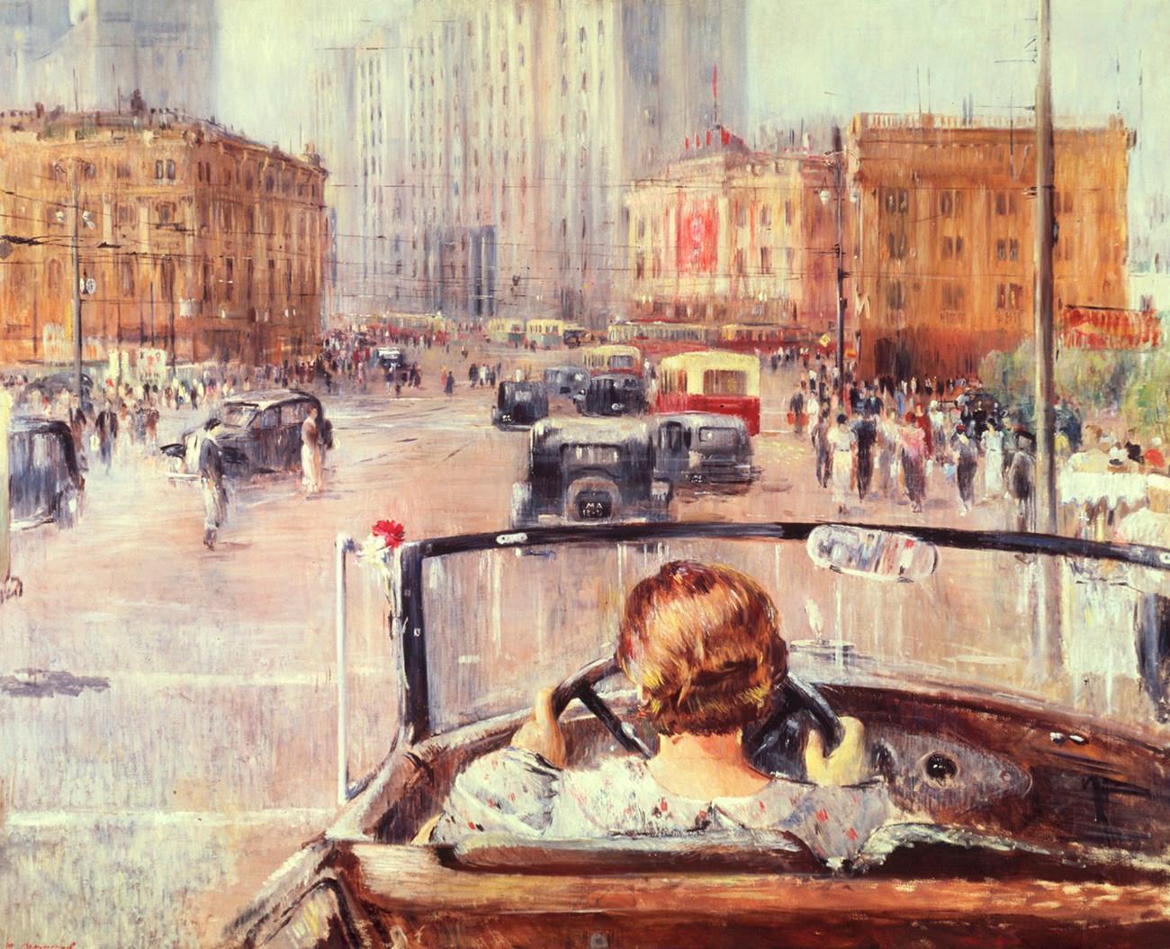 Juri Pimenow. Neues Moskau, 1937.