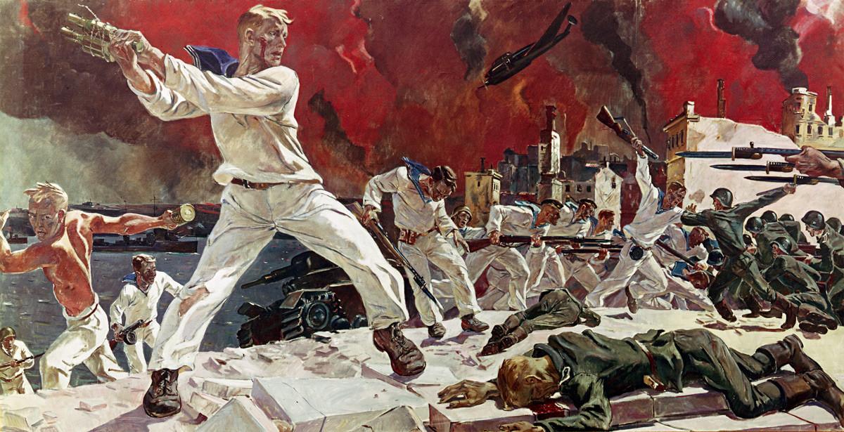 Alexander Deineka. Die Verteidigung von Sewastopol, 1942.