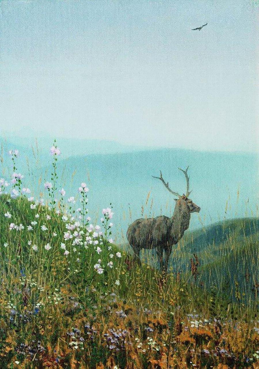 Dans les montagnes Alataou, 1870