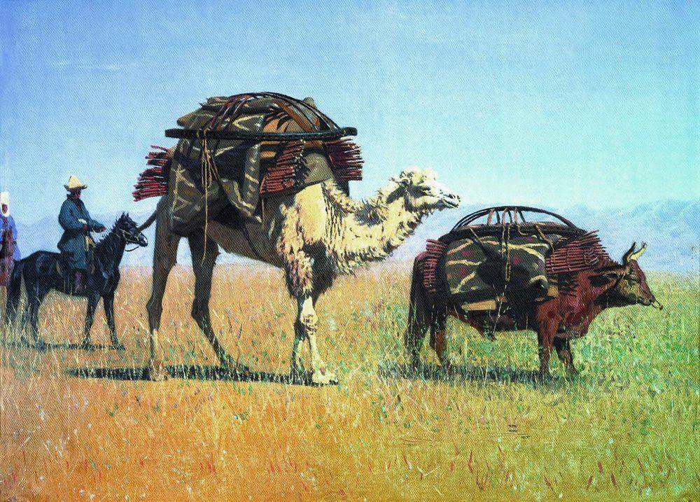 Migration des nomades kirghizes, 1870
