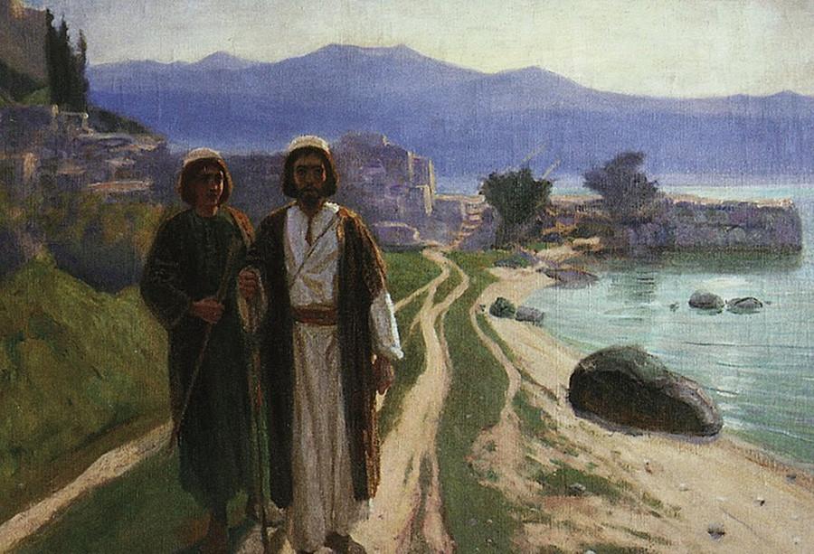 Ils décident d'aller à Jérusalem, 1890. Série consacrée à la vie du Christ