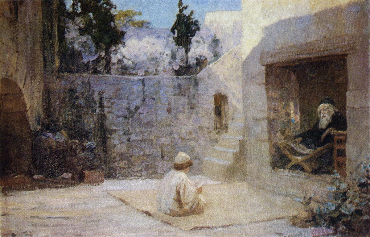 Plein de sagesse, 1896. Série consacrée à la vie du Christ