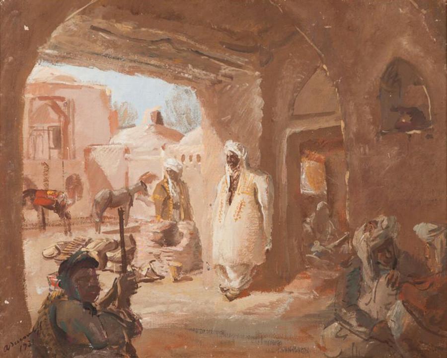 Caravansérail en Afghanistan, 1931