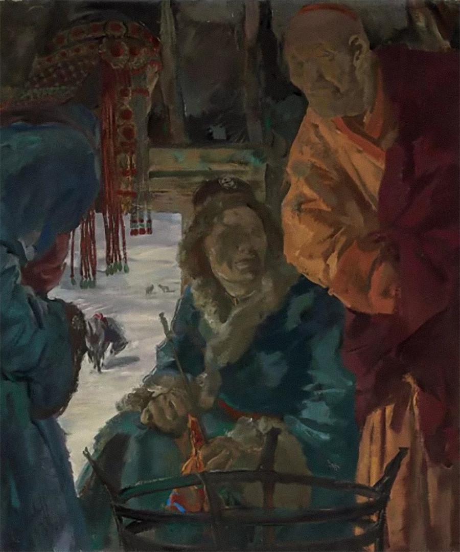 Visite du Lama, 1933