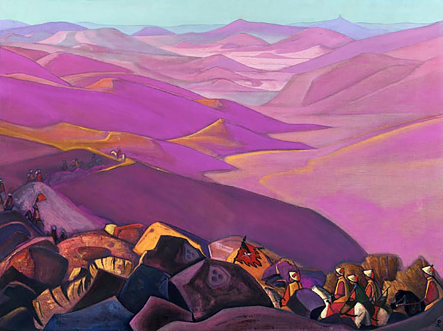 Mongolie. Campagne de Gengis Khan, 1937
