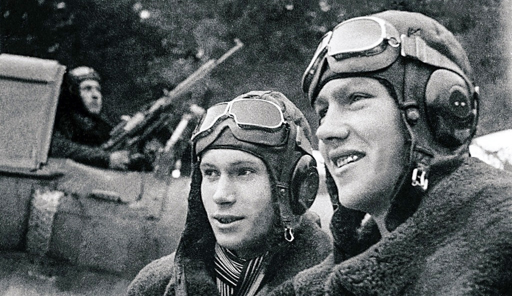 Des pilotes soviétiques