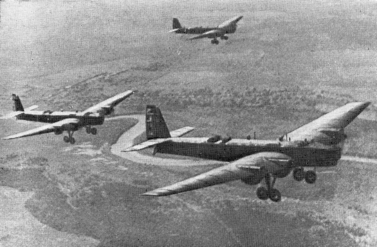 Совјетски пилоти на бомбардерима ТБ-3, који су добровољно учествовали у националноослободилачкој борби кинеског народа против јапанских освајача (1937-1945), 1938.