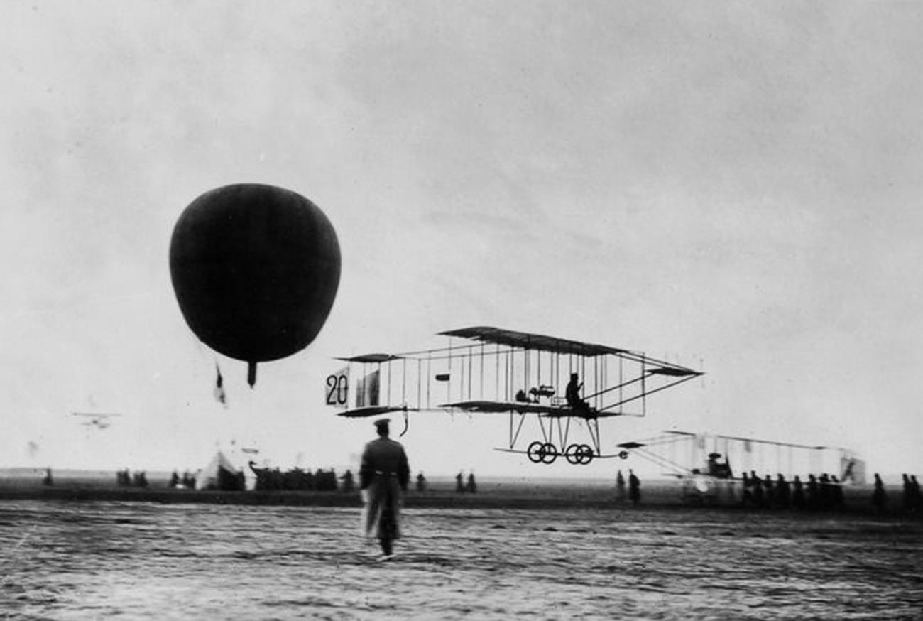 Farman IV airplane.