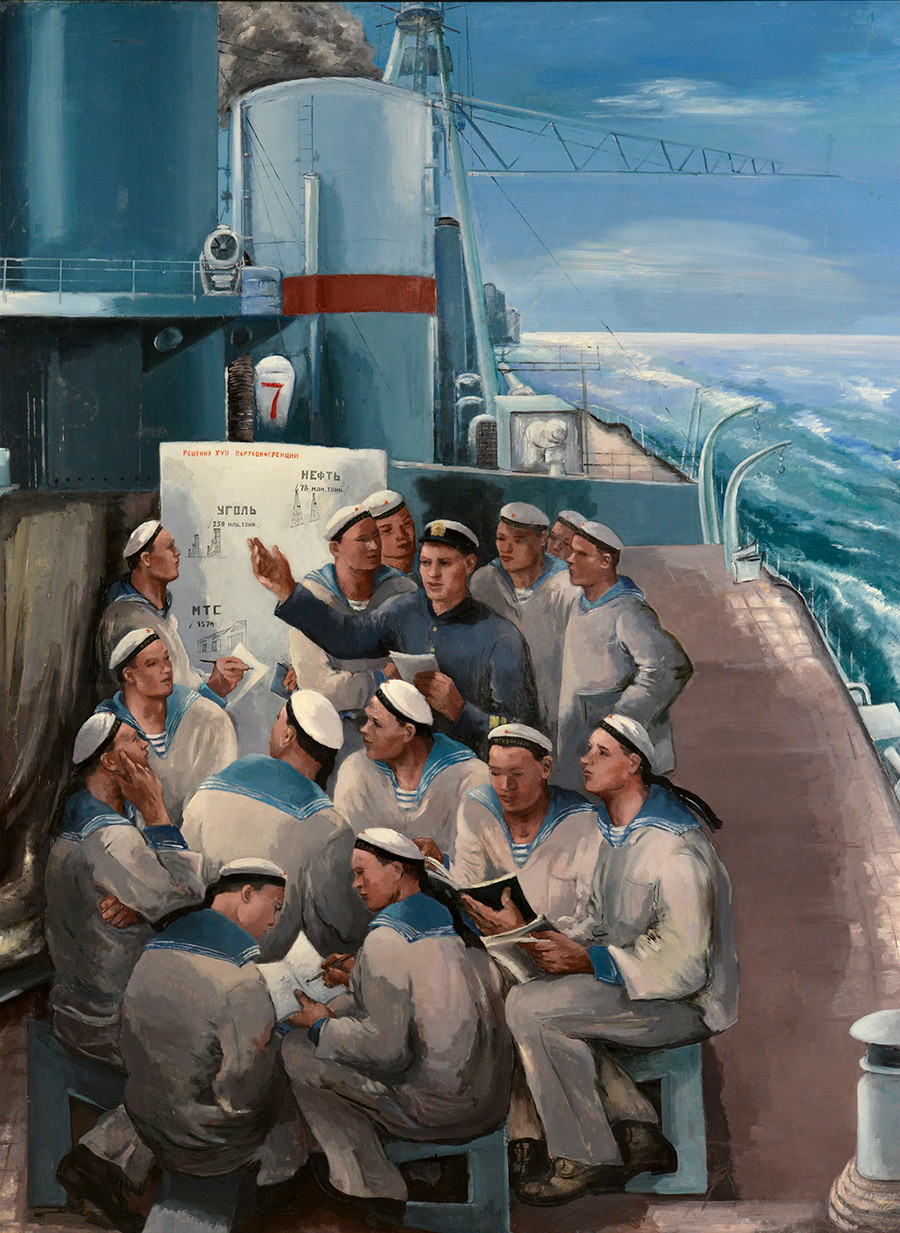 ヴィクトル・ミドレル「戦艦の上の政治学」