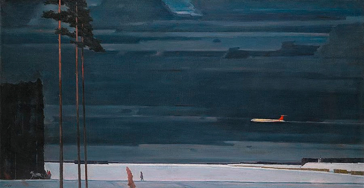 ゲオルギー・ニスキー「雪の上で」